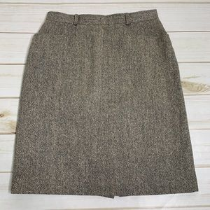 Cream black pencil skirt by Talbots